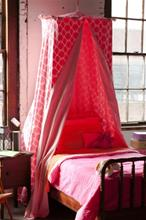 Mombasa Luxury Cotton Flushed Pink Blossom bed canopy